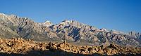 Alabama hills and Sierra Nevada mountains, California