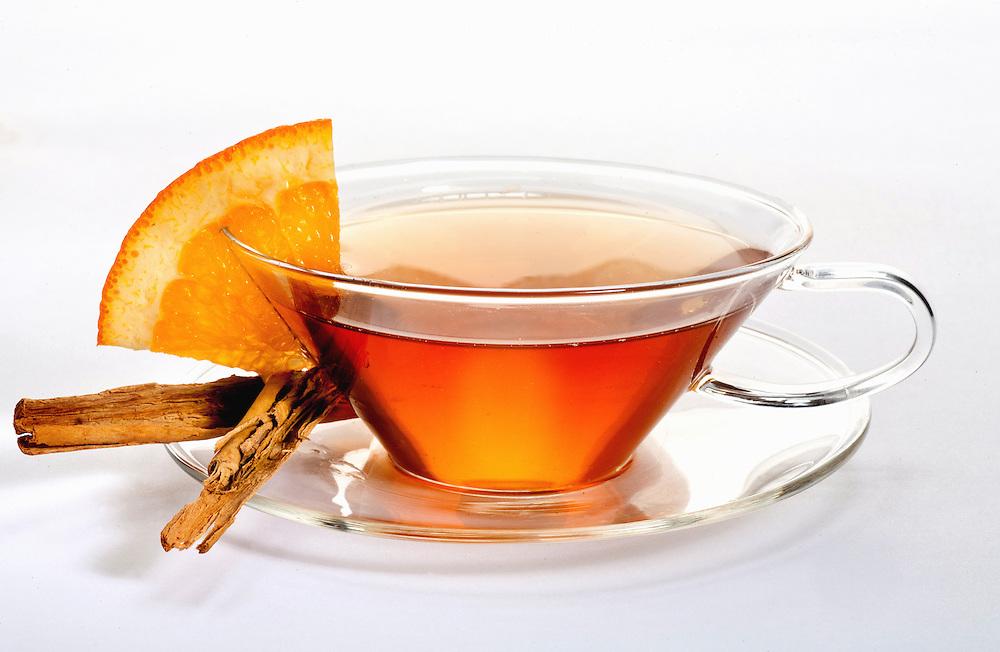 Orange blossom tea with cinnamon