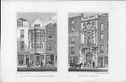 Sir Paul Pindar's House, Bishopsgate Street, Mercer's Hall, Cheapside, engraving 'Metropolitan Improvements, or London in the Nineteenth Century' London, England, UK 1828