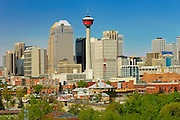 Calgary Tower and city skyline<br /> Calgary<br /> Alberta<br /> Canada