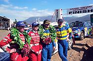 Podium - Neal Bates, Coral Taylor, Possum Bourne, Craig Vincent - Saxon Safari Tasmania - ARC- 11th-12th September 1999