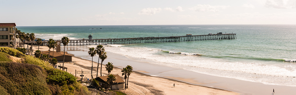 A View Of San Clemente Pier From The Bluffs