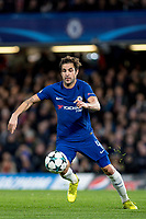 LONDON,ENGLAND - DECEMBER 05: Chelsea (4) Cesc Fàbregas during the UEFA Champions League group C match between Chelsea FC and Atletico Madrid at Stamford Bridge on December 5, 2017 in London, United Kingdom.  <br /> ( Photo by Sebastian Frej / MB Media )