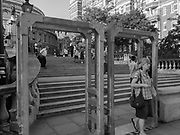 Security barriers outside Royal Albert Hall, London, 27 August 2017