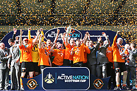 Football - Scottish FA Cup Final - Dundee United vs. Ross County<br /> <br /> Dundee United Captain Andy Webster lifts the Scottish FA Cup after defeating Ross County 3-0
