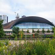 2021-09-20 Stratford, London, UK. London Aquatics Centre at Queen Elizabeth Olympic Park, East Bank.