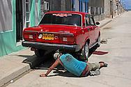 Russian Lada in Gibara, Holguin, Cuba.