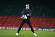 Gareth Davies of Wales during the Wales rugby team captains run at the Principality Stadium  in Cardiff , South Wales on Friday 2nd February 2018.  the team are preparing for their opening Natwest 6 Nations 2018 championship match against Scotland tomorrow.   pic by Andrew Orchard