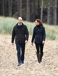 The Duke and Duchess of Cambridge visit Newborough Beach in North Wales, to help local scouts and school children clean up the beaches and hear about the local wildlife. Picture Credit Should Read: Doug Peters/EMPICS