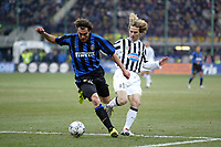 Milano 12/2/2004 Coppa Italia - Italy Cup - Semifinale <br />Inter - Juventus 2-2 (6-7 after penalties) <br />Christian Vieri (Inter) and Pavel Nedved (Juventus)<br />Photo Andrea Staccioli Graffiti
