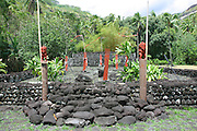 Marae (temple) Arahurhu, Island of Tahiti, French Polynesia<br />