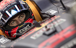 November 24, 2017 - Abu Dhabi, United Arab Emirates - Max Verstappen of Netherland and Red Bull Racing Team driver goes during the first practice at Formula One Etihad Airways Abu Dhabi Grand Prix on Nov 24, 2017 in Yas Marina Circuit, Abu Dhabi, UAE. (Credit Image: © Robert Szaniszlo/NurPhoto via ZUMA Press)