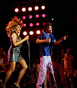 Mick Jagger and Tina Turner perform at Live Aid Philadelphia 1985