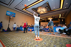 """The Florida Gators participate in the """"Battle for Bowl Week"""" Basketball Challenge on Tuesday, December 25, 2018, in Atlanta. """"Battle for Bowl Week"""" consists of a series of events that each team participates in, with the overall winning team taking home the """"Battle for Bowl Week"""" belt; Florida will face Michigan in the 2018 Chick-fil-A Peach Bowl NCAA football game on December 29, 2018. (Carmen Mandato via Abell Images for the Chick-fil-A Peach Bowl)"""