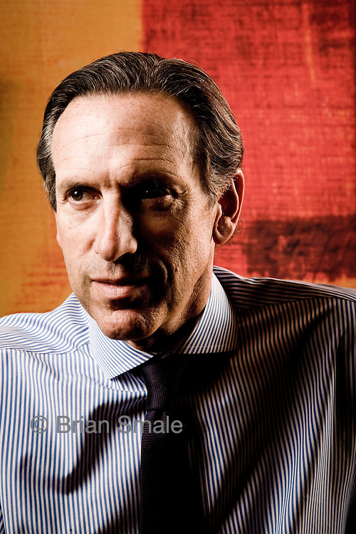 Portraits of Howard Schultz, CEO of Starbucks.  Photographed in 2008 by Brian Smale for Fortune Magazine, in Starbucks Seattle headquarters.