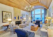 Dancing Couple by Fernando Botero, Living Room, Meadow Lane, Southampton, Long Island, New York