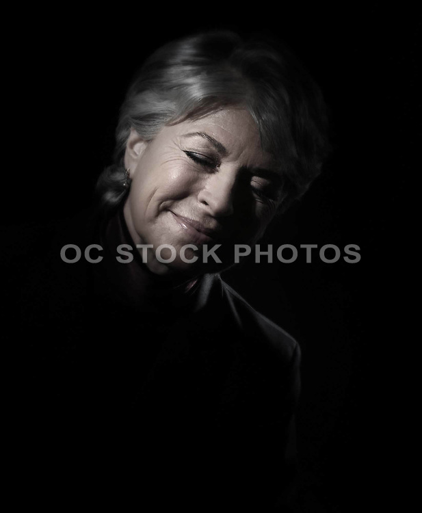 Senior Woman Happy And Dreaming
