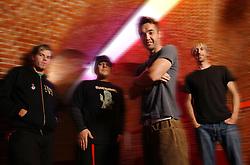BRUSSELS, BELGIUM - From left to right Dan Estrin , guitar - Markku Lappalainen , bass - Doug Robb , vocals - Chris Hesse -, drums - HOOBASTANK - rock and roll band from California, USA. (Photo © Jock Fistick)