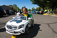 The Fiesta Mexicana in Woodburn, Oregon. Contact Adrianno Torres 971-600-6021, mother of Alyssandra (2) in tiny car