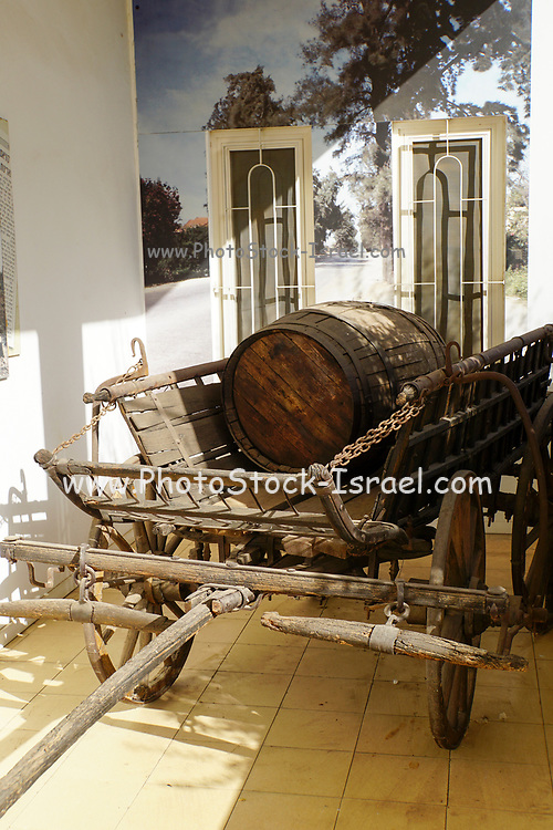 Old style wooden pull wagon