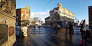 Port Townsend Victorian buildings in the winter golden afternoon light.<br /> <br /> (phone panorama)