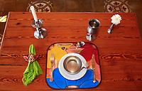 old design restaurant table