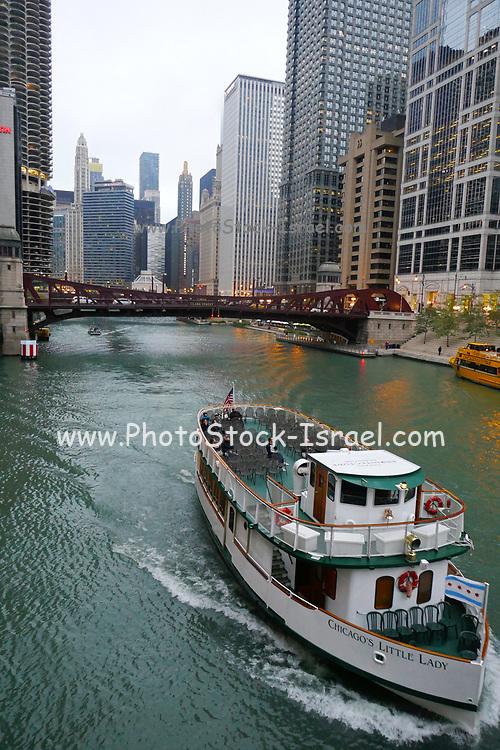 Chicago riverside walk, Chicago, Illinois, USA