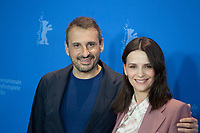 Director, Screenwriter, Safy Nebbou and Actress Juliette Binoche at the photocall for the film Who You Think I Am (Celle Que Vous Croyez) at the 69th Berlinale International Film Festival, on Sunday 10th February 2019, Hotel Grand Hyatt, Berlin, Germany.
