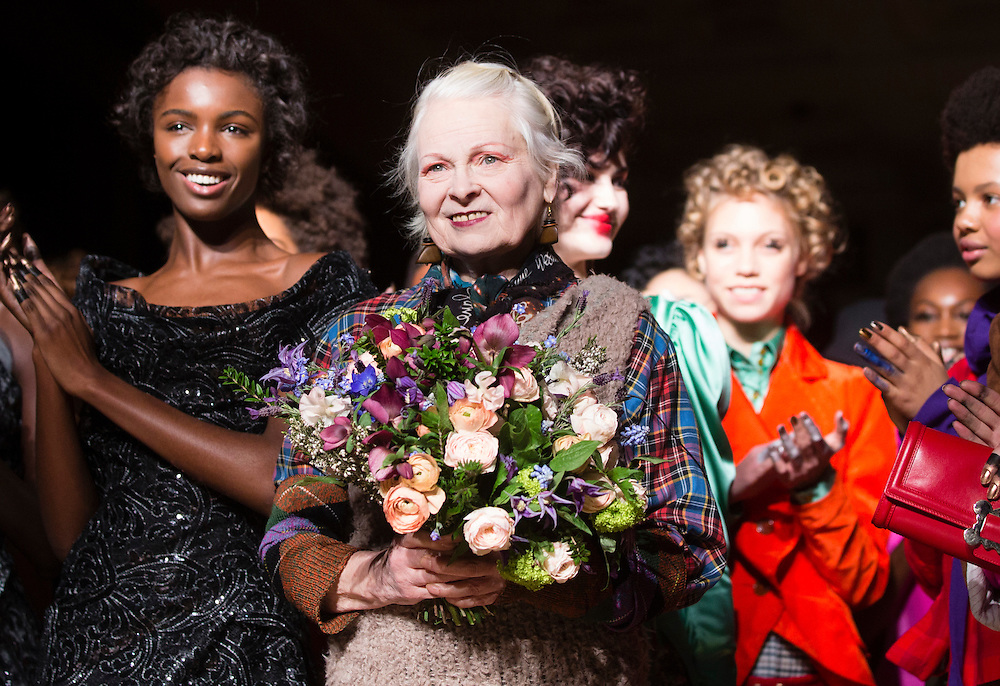Vivienne Westwood  AW16 catwalk on day 3 of London Fashion week on 21st February 2016.