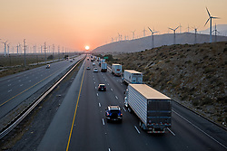Wind farms in Southern California