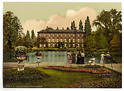 Stunning Old photochrome prints turn back the clock in London <br /> <br /> colourised postcards from the Victorian era,  postcards were made using photochrom - a method of producing colourised photos from negatives<br /> <br /> Photo shows: Kew Gardens, England, between 1890 and 1900<br /> ©Library of Congress/Exclusivepix Media