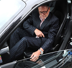 Former England footballer Paul Gascoigne leaves Dudley Magistrates Court where he has been fined £1,000 for making a racist comment to a black security guard at a public event.