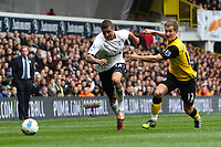 Football - The Premiership - Tottenham vs Blackburn<br /> Kyle Walker of Tottenham and Morten Gamst Pederson of Blackburn fight for the ball at White Hart Lane