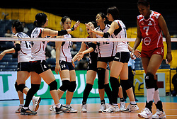 07-11-2010 VOLLEYBAL: WORLD CHAMPIONSHIP: PERU - KOREA: TOKYO<br /> Korea beat Peru with 3-1 / Korea celebrate<br /> ©2010-WWW.FOTOHOOGENDOORN.NL