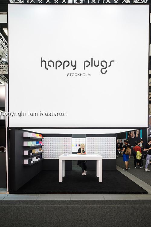 Happy Plugs stand at 2016  IFA (Internationale Funkausstellung Berlin), Berlin, Germany