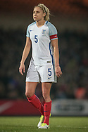 Steph Houghton (Captain) (England) (Manchester City) during the Women's International Friendly match between England Ladies and Italy Women at Vale Park, Burslem, England on 7 April 2017. Photo by Mark P Doherty.
