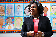 Kadrien Wilson at Simpkins Elementary School, Friday, February 26, 2016, in Greensboro, N.C.<br /> <br /> Kadrien Wilson is a senior at Bennett College in her hometown of Greensboro, N.C. Besidesmaintaining her 3.9 GPA and her position as vice president of the Student Government Association,sheis a student teacher for a class of second graders atSimpkins Elementary School. After graduation,Kadrien plans to remain withGuilford County school system and hopes to rise through the administrative ranks to principal.<br /> <br /> JERRY WOLFORD and SCOTT MUTHERSBAUGH / Perfecta Visuals