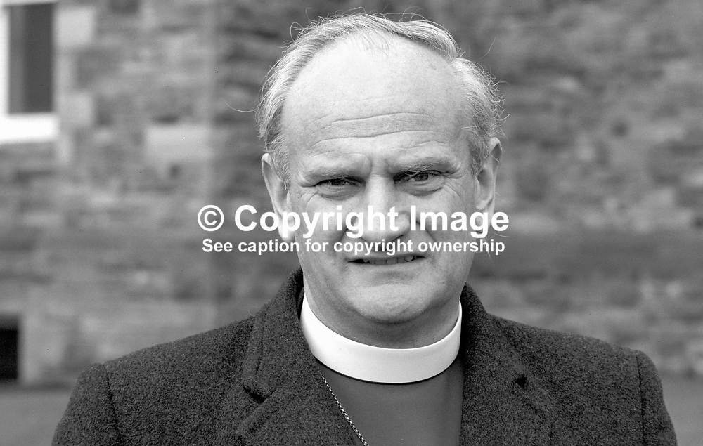 Right Rev Robin Eames, Church of Ireland, Anglican, Down and Dromore, 19840045RE1.<br /> <br /> Copyright Image from Victor Patterson, Belfast, UK<br /> <br /> t: +44 28 9066 1296 (from Rep of Ireland 048 9066 1296)<br /> m: +44 7802 353836<br /> e: victorpattersonbelfast@gmail.com<br /> <br /> www.images4media.com<br /> <br /> Please see my full Terms and Conditions of Use at https://www.images4media.com/p/terms-conditions - it is IMPORTANT that you familiarise yourself with them.<br /> <br /> Images used online incur an additional cost. This cost should be agreed in writing in advance. Online images must be visibly watermarked i.e. © Victor Patterson or that of the named photographer within the body of the image. The original metadata must not be deleted from images used online.<br /> <br /> This image is only available for the use of the download recipient i.e. television station, newspaper, magazine, book publisher, etc, and must not be passed on to a third party. It is also downloaded on condition that each and every usage is notified within 7 days to victorpattersonbelfast@gmail.com.<br /> <br /> The right of Victor Patterson (or the named photographer) to be identified as the author is asserted in accordance with The Copyright Designs And Patents Act (1988). All moral rights are asserted.
