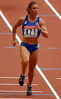 Friidrett<br /> VM 2003 Paris<br /> 23.08.2003<br /> NORWAY ONLY<br /> Foto: Digitalsport<br /> <br /> ATHLETICS - IAAF WORLD CHAMPIONSHIPS 2003 - PARIS 2003 - STADE DE FRANCE - PHOTO : PHILIPPE MILLEREAU<br /> <br /> 100 M WOMEN - EKATERINI THANOU (GRE)