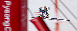 February 17, 2018 - Pyeongchang, South Korea - Alexandra COLETTI of Monaco crosses the finish line in this pan action image during the Ladies' Super-G at the Jeongseon Alpine Centre during the 2018 Pyeongchang Winter Olympic Games. (Credit Image: © Daniel A. Anderson via ZUMA Wire)