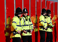 Police watch the crowds astray arrive before the Premier League match at Old Trafford, Manchester. Picture date: 8th March 2020. Picture credit should read: Darren Staples/Sportimage