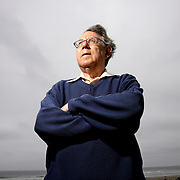 LA JOLLA, CA - May 12, 2006 - Dr. Paul Crutzen, Nobel Prize winner who worked on the interactions of atmospheric chemistry with climate, the role of halogen photochemistry with ozone in the marine boundary layer and the global modelling of atmospheric chemical processes with stratosphere and troposhere, on the beach at the University of San Diego in La Jolla, California on May 12, 2006. (Photo by Todd Bigelow/Aurora)