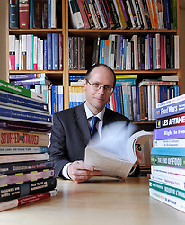 Olivier De Schutter, United Nations Special Rapporteur on the right to food, at his home is Brussels, Belgium, on Friday Feb. 26, 2010. (Photo © Jock Fistick)