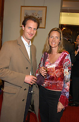ALAISTER ORCHARD and his sister ALEXANDRA ORCHARD at a drinks party for the Game Conservancy Trust's committee held at Williams & Son, 10 Mount Street, London WlK hosted by Willaim & Lucy Asprey on 6th December 2005.<br />