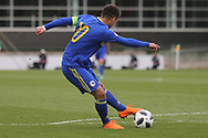 Ajdin Hasic of Bosnia and Herzegovina (10) shoots during the UEFA European Under 17 Championship 2018 match between Bosnia and Republic of Ireland at Stadion Bilino Polje, Zenica, Bosnia and Herzegovina on 11 May 2018. Picture by Mick Haynes.