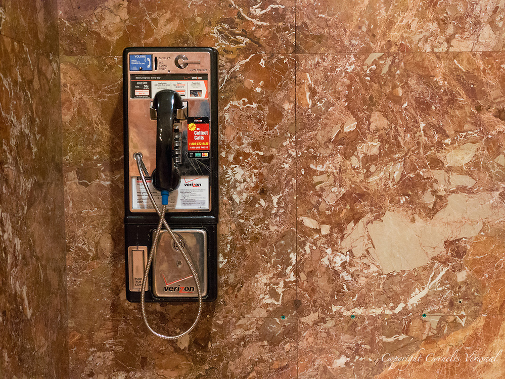 Public phone in the Trump Tower lower level.