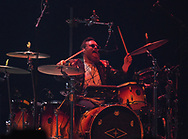 Walk the Moon drummer Sean Waugaman performs April 8, 2019, at Madison Square Garden in New York City. (Photo by Matt Smith)