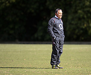 David Alred, England kicking coach, looks on during the England elite player squad trainnig session at Pennyhill Park, Bagshot, UK, on 11th March 2011  (Photo by Andrew Tobin/SLIK images)