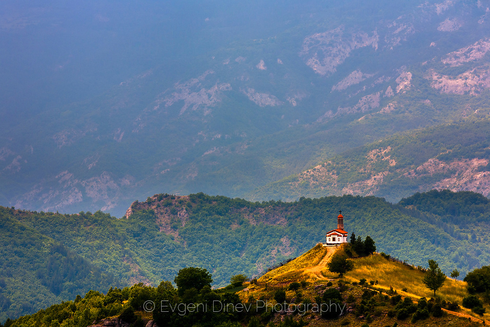 A Chapel on the top of a hill in Rhodope Mountains