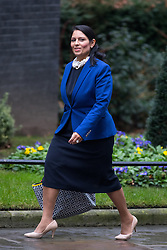© Licensed to London News Pictures. 31/01/2017. London, UK. International Development Secretary Priti Patel arriving at Downing Street for a cabinet meeting this morning. Photo credit : Tom Nicholson/LNP